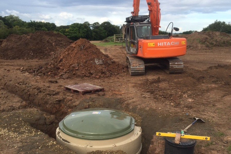 drainage installation in Lancaster